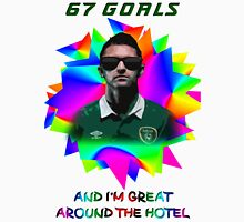 "Robbie Keane ""67 Goals and I'm Great around the Hotel"" Unisex T-Shirt"