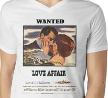 WANTED Love Affair Mens V-Neck T-Shirt