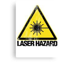 Laser Hazard Canvas Print