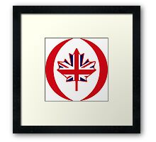 British Canadian Multinational Patriot Flag Series Framed Print