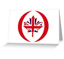 British Canadian Multinational Patriot Flag Series Greeting Card