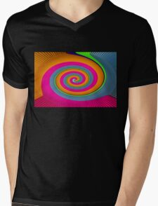 colours spiral Mens V-Neck T-Shirt