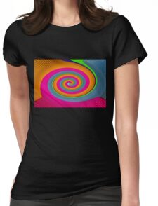 colours spiral Womens Fitted T-Shirt