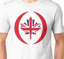 British Canadian Multinational Patriot Flag Series Unisex T-Shirt