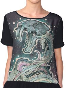 Saber-toothed Serpent in Space Chiffon Top