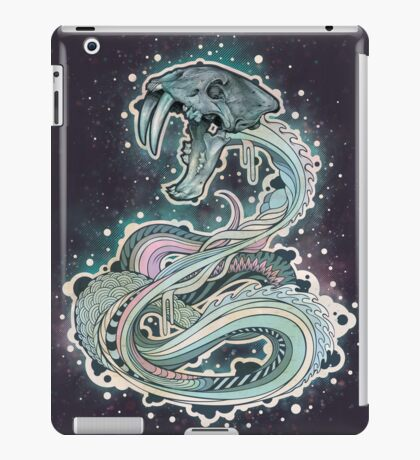 Saber-toothed Serpent in Space iPad Case/Skin