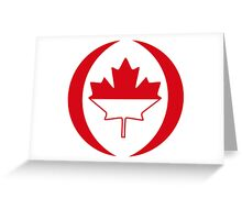 Indonesian Canadian Multinational Patriot Flag Series Greeting Card