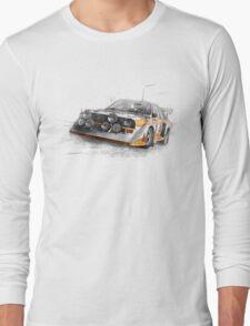 Rally Car Illustration Long Sleeve T-Shirt