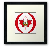 Peruvian Canadian Multinational Patriot Flag Series Framed Print