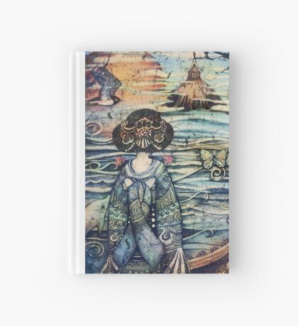vintage geisha Hardcover Journal