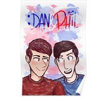 Dan&Phil - Red&Blue Poster