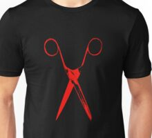 Scissors - red Unisex T-Shirt