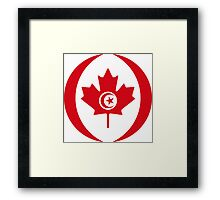Tunisian Canadian Multinational Patriot Flag Series Framed Print