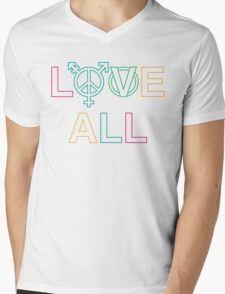 LOVE ALL Mens V-Neck T-Shirt