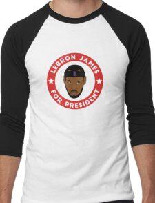 LeBron James For President Men's Baseball ¾ T-Shirt