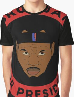 LeBron James For President Graphic T-Shirt