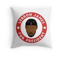 LeBron James For President Throw Pillow