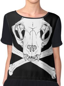 Cat Jolly Roger Chiffon Top