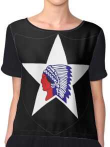 2nd Infantry Division Logo Chiffon Top