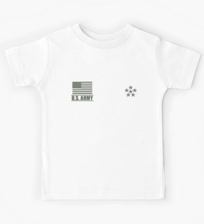 General of the Armies US Army Rank Desert by Mision Militar ™ Kids Tee