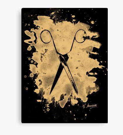 Scissors - bleached natural Canvas Print