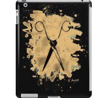 Scissors - bleached natural iPad Case/Skin