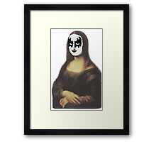 Mona Lisa in KISS makeup Framed Print