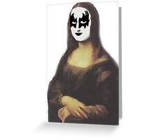 Mona Lisa in KISS makeup Greeting Card