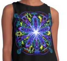 Energetic Geometry - moonlight flower bloom Contrast Tank