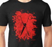 Scissors - bleached red Unisex T-Shirt