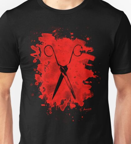Scissors - bleached red Unisex T-Shirt