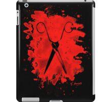 Scissors - bleached red iPad Case/Skin