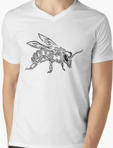 """Bee Spirit"" ver.1 - Surreal abstract tribal bee totem animal Mens V-Neck T-Shirt"