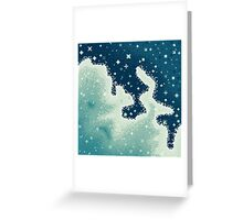 Snowdrift Nebula (8bit) Greeting Card