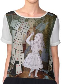 Alice In Wonderland/The Pack of Cards Women's Chiffon Top