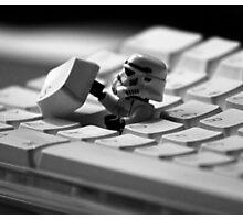 Stormtrooper Keyboard Photographic Print