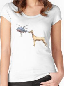 Canine Rotocraft Women's Fitted Scoop T-Shirt
