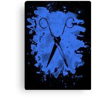 Scissors - bleached blue Canvas Print