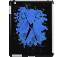 Scissors - bleached blue iPad Case/Skin