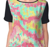 Abstract Candy land Chiffon Top