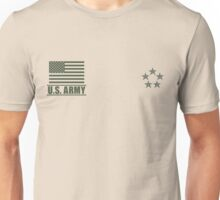 General of the Army Infantry US Army Rank Desert by Mision Militar ™ Unisex T-Shirt