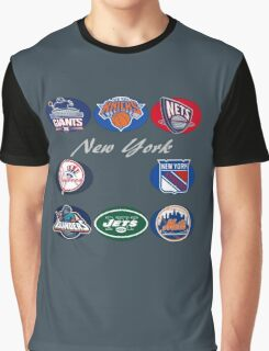New York Professional Sport Teams Collage  Graphic T-Shirt