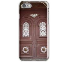 Carved Weathered Wooden Church Door iPhone Case/Skin