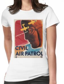 Vintage poster - Civil Air Patrol Womens Fitted T-Shirt