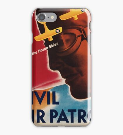Vintage poster - Civil Air Patrol iPhone Case/Skin