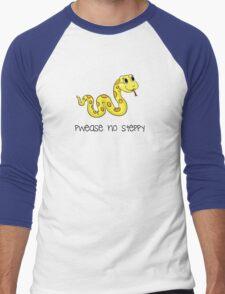 Pwease no steppy Men's Baseball ¾ T-Shirt
