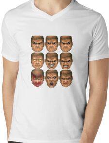 Doom faces Mens V-Neck T-Shirt