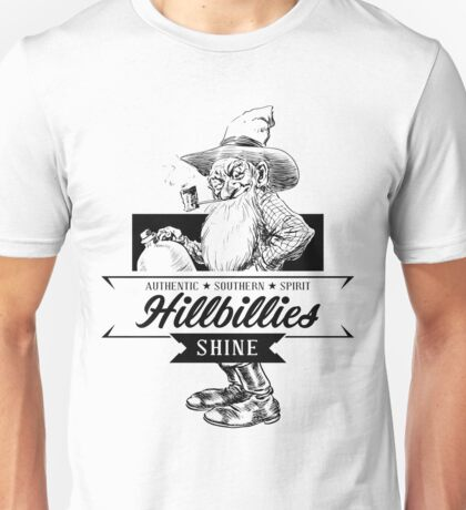 Authentic Southern Spirit Hillbillies Shine Unisex T-Shirt