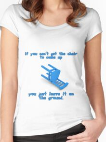 alantutorial - the blue chair Women's Fitted Scoop T-Shirt