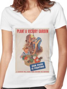 Vintage poster - Victory Garden Women's Fitted V-Neck T-Shirt